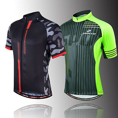 SPONEED Men Cycling Jersey Team Bike Shirts MTB Road Cycle Spinning Tights Wear
