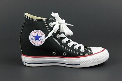 05ee45bb44c8 Converse Chuck Taylor All Star Platform Lux Wedge Shoes 547198F Black USA  Size 5