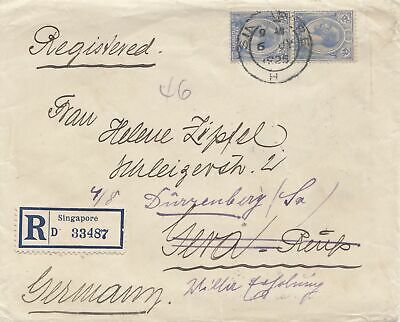Singapore: 1925: registered to Gera, forwarded to Dürrenberg