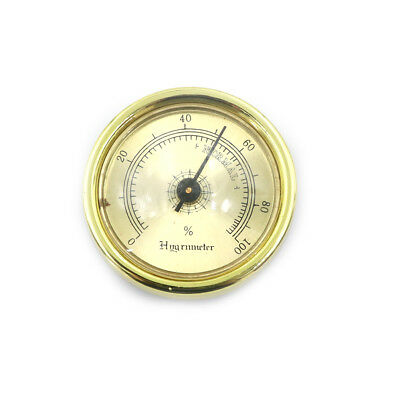 45mm Thermometer Cigar Hygrometer Monitor Meter Gauge Humidity Measuring Tool Jb