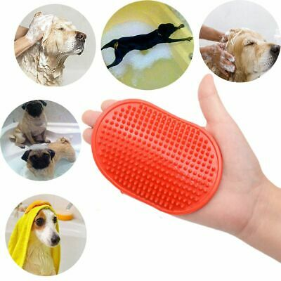 Pet Dog Cat Grooming Shower Bath Brush Rubber Silicone Anti Skid Massage Comb US