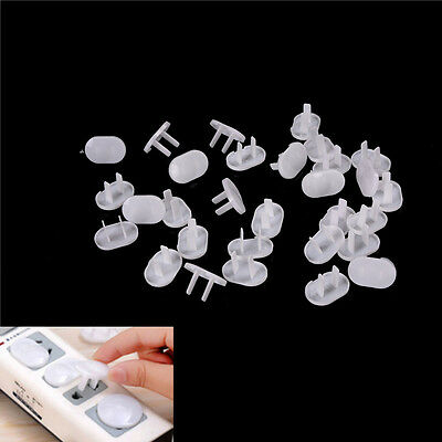 30 Pcs 2 Hole Power Socket Outlet Plug Protective Cover Baby Protector、AU