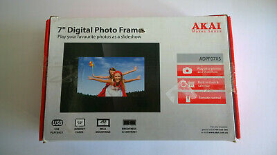 New Akai 7 Inch Digital Photo Frame