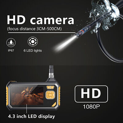 "4.3"" LCD Digital Endoscope Camera HD 1080P LED d'inspection de voiture de tuyau"