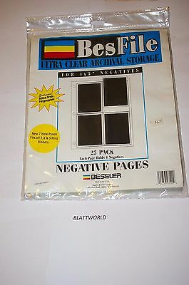BESFILE 25 Pages 4X5 ULTRA CLEAR ARCHIVAL Negative Pages