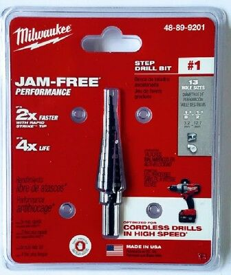 NEW Milwaukee Step Drill Bit 1/8th to 1/2 Inch