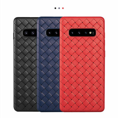 For Samsung Galaxy S10Plus S10e Luxury Slim Shockproof Soft TPU Woven Case Cover