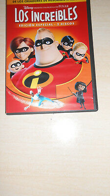 Dvd Los Increibles (The Incredibles) Edicion Especial 2 Dvd