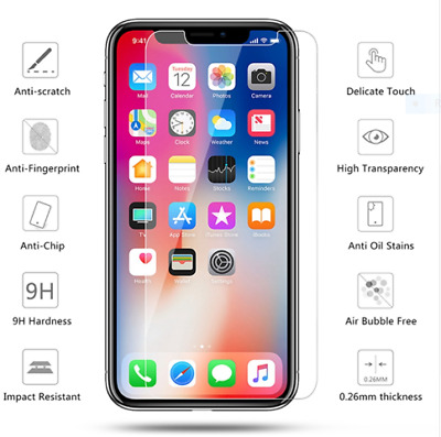 Glass For iPhone XS XR XS Max 6.1 6.5 5.8 inch 2018 Screen Protector Tempered 9H