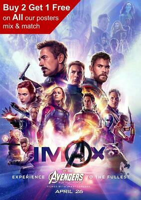 Marvel Avengers Endgame Imax Movie Poster A5 A4 A3 A2 A1