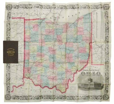 H Colton, oseph / COLTON'S RAILROAD & TOWNSHIP MAP Of The STATE Of OHIO 1856