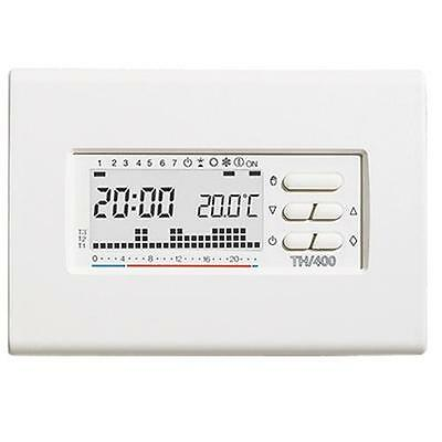 Bpt TH400BB Thermostat Programmable Numérique Hebdomadaire 3X1,5 AAA Blanc