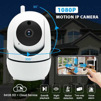 HD 1080P Wifi iP Home Security Camera Two Way Audio Pan Tilt Night Vision Cam