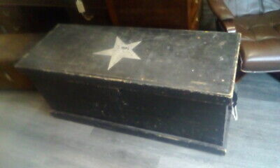 Very Large Antique Vintage Wooden Pine Trunk / Box ToyBox