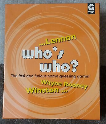 BNIB Who's Who? Fun Card Game. Party, Gift Idea, Stocking Filler. *Torn Seal