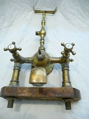 Vintage French Large Brass Shower Mixer Tap Architectural Style-Project Repair