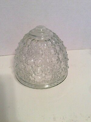 Vintage Cut Glass Ornate Light Globe Shade Ceiling Mount Hallway Fixture Clear