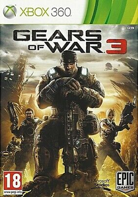 Gears of War 3 (Xbox 360, 2011) PAL Disc Mint Xbox One Brand New Case J2L