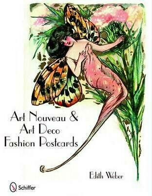 Art Nouveau & Art Deco Fashion Postcards by Edith Weber (English) Hardcover Book