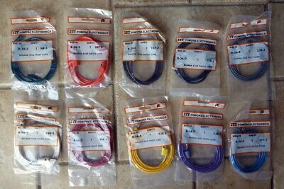 LOT OF 10 Pomona Stacking Banana Plug Patch Cords B-36 NEW OLD STOCK