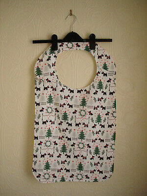 Adult Bib in a Christmas Theme Pattern Material
