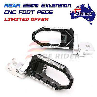 For Yamaha TRX 850 1996-2000 BLACK CNC Quality Extended Rear Wide Foot Pegs