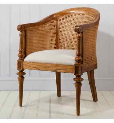 Manhattan French Finest Ash & Walnut Wood Bedroom Chair / Dressing Table Chair
