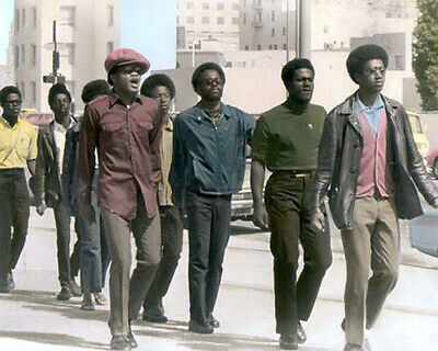 """SAN FRANCISCO BLACK PANTHER PARTY MEMBERS 8x10"""" HAND COLOR TINTED PHOTOGRAPH"""