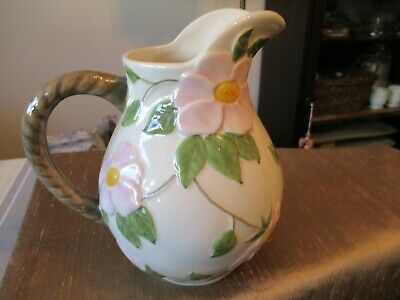 Franciscan Desert Rose Water Pitcher Made In Portugal