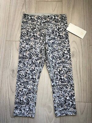 f71cbc7f5d Lululemon Wunder Under Crop Pant Not So Petite Fleur Silver Spoon Size 4  NEW NWT