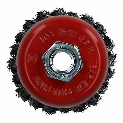 """Professional 80mm Wire Twist Knot Cup Brush for 4-1/2"""" M14 Angle Grinders"""