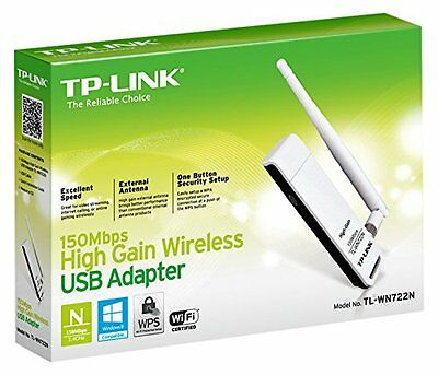 TP-Link TL-WN722N 150Mbps Wireless USB Adapter (Black/White)