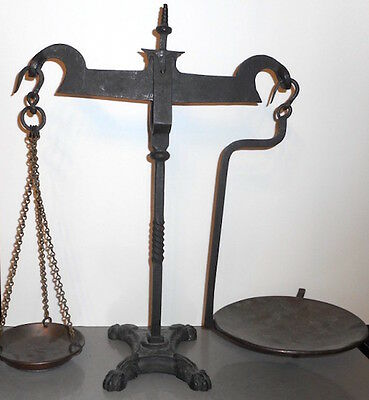 Impressive Antique 18th / Early 19th Century Wrought Iron Store Scales