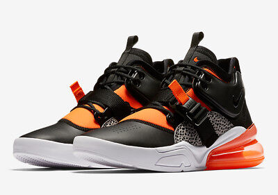 size 40 1d6e1 1aef5 Authentique Nike Air Force 270 Safari Orange Wolf Gris Blanc Ah6772 004