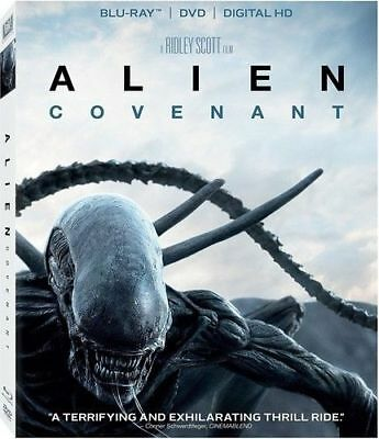 Alien: Covenant: Brand New W/Cover (2017, 2-Disc Set) Blu-Ray + DVD + Digital HD