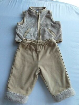 BABY GAP Age 3-6 months light brown tracksuit.  Hardly worn.  FAST POSTAGE