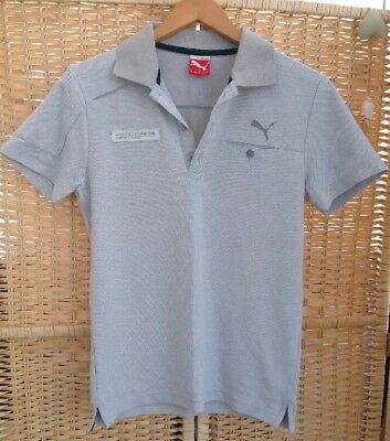 PUMA Sz Small Mercedes Benz AMG Petronas Formula One Team F1 Top Polo Grey