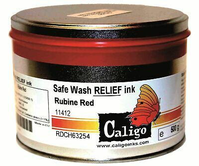 Caligo Safe Wash Relief Inks 75ml tube 250gm & 500gm tin Choose Size/Colour