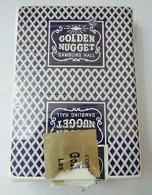 Golden Nugget Hotel Casino Las Vegas, Nevada Hard To Find Logo Blue Card Deck!