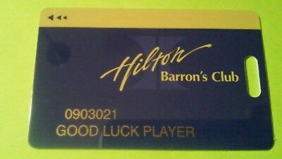 Hilton Hotel Casino Las Vegas, Nevada Blue Slot Card Great For Any Collection!