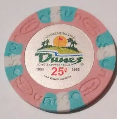 Dunes Casino Las Vegas, Nevada .25 Cent Fantasy Chip Great For Any Collection!