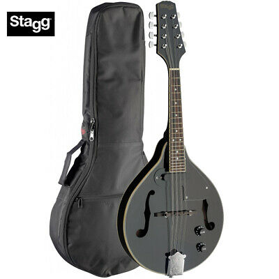 Stagg M50-E Premium A Style Bluegrass Acoustic Electric Mandolin Black + Gig Bag