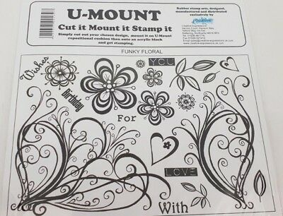 Creative Expressions - Unmounted Rubber Stamps - FUNKY FLORAL