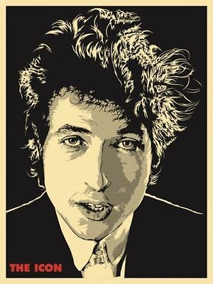 2010 Bob Dylan The Icon Concert Poster 10/19 #/50 Joshua Budich S/N Mt