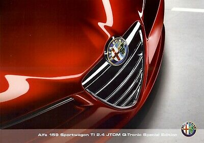 "ALFA-ROMEO 159 Ti ""Special Edition"" - 2011 - Swiss sales brochure, catalogue"