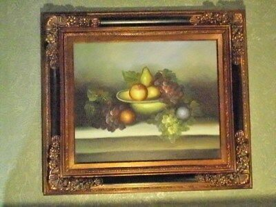 """Fruit Still Life Composition with Apples, Pears,Plums, Grapes in Bowl  33.5""""X29"""""""