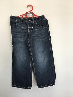 M&S boys blue denim jeans age 4 Years