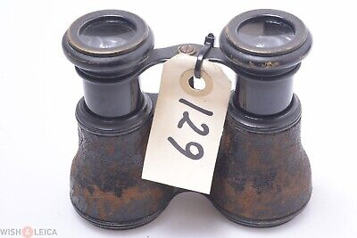 German, French? Binoculars Small Model Large Eye-Pieces Antique Double Telescope