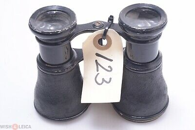 French, German? Binoculars Brass Large Eye Cups Small Antique Double Telescope