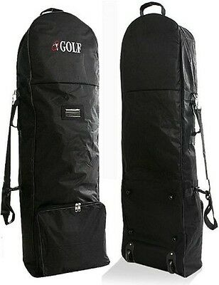 NEW Travel Cover for Golf Caddie Cart Bag Black With Caster Wheel Fast Shipping